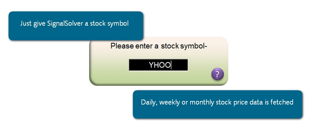 Daily, weekly or monthly stock price data is downloaded from the web
