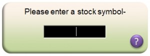 Entering Stock Symbols