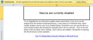 Macros Are Disabled